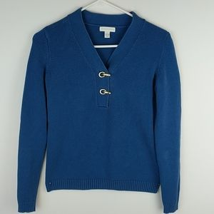 Charter club blue v-neck sweater. Small.